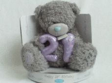 Adorable Big 'Happy 21st Birthday' Me to You Bear New + Boxed